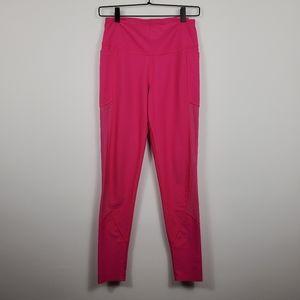 Victoria Sport Hot Pink Mesh Pocketed Leggings